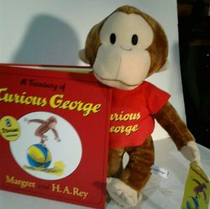 Other - Curious George book and plush